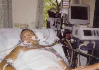 Steve Christmas in Intensive Care September 2000