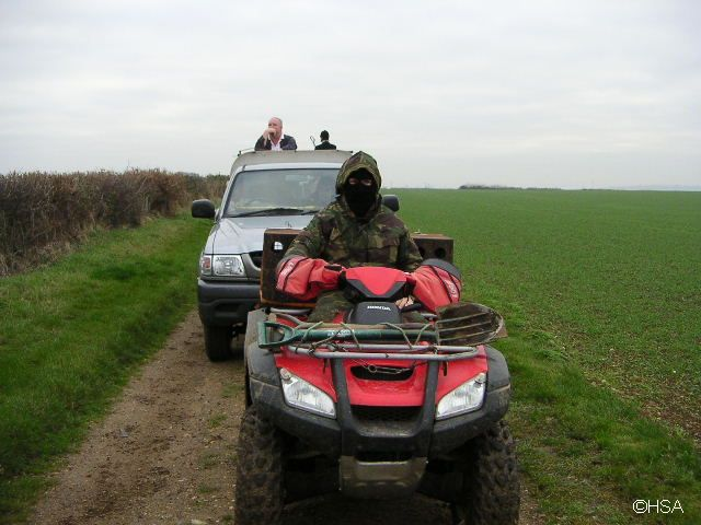 Balaclava thug at fox hunt in Essex