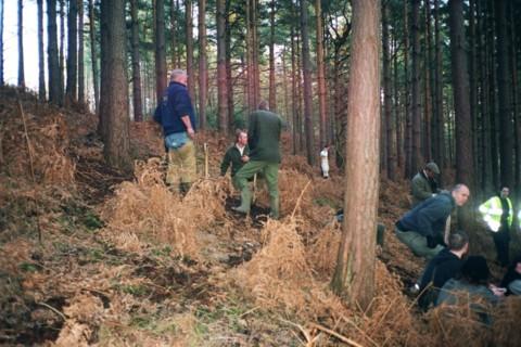 Sabs occupy holes to stop terriermen digging badger sett