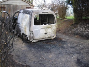 Result of arson attack