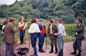 Hunt saboteurs disrupt the Northern Counties Otterhounds, 1970s.