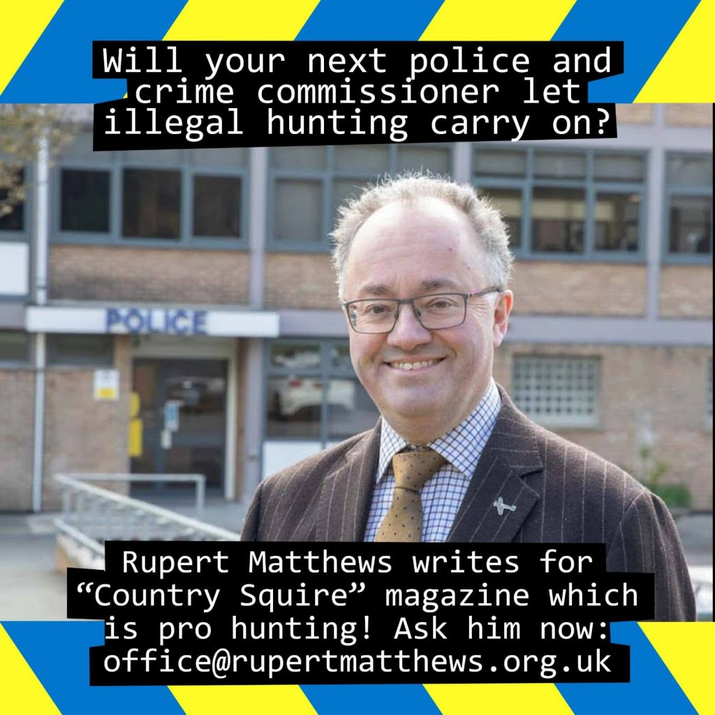 Rupert Matthews is the Conservative candidate for Police and Crime Commissioner in Leicestershire and Rutland