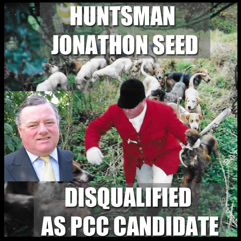 Jonathon Seed disqualified