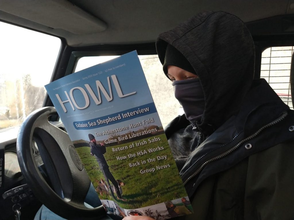 sab reading HOWL magazine